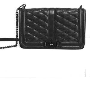 Rebecca Minkoff large quilted crossbody bag.